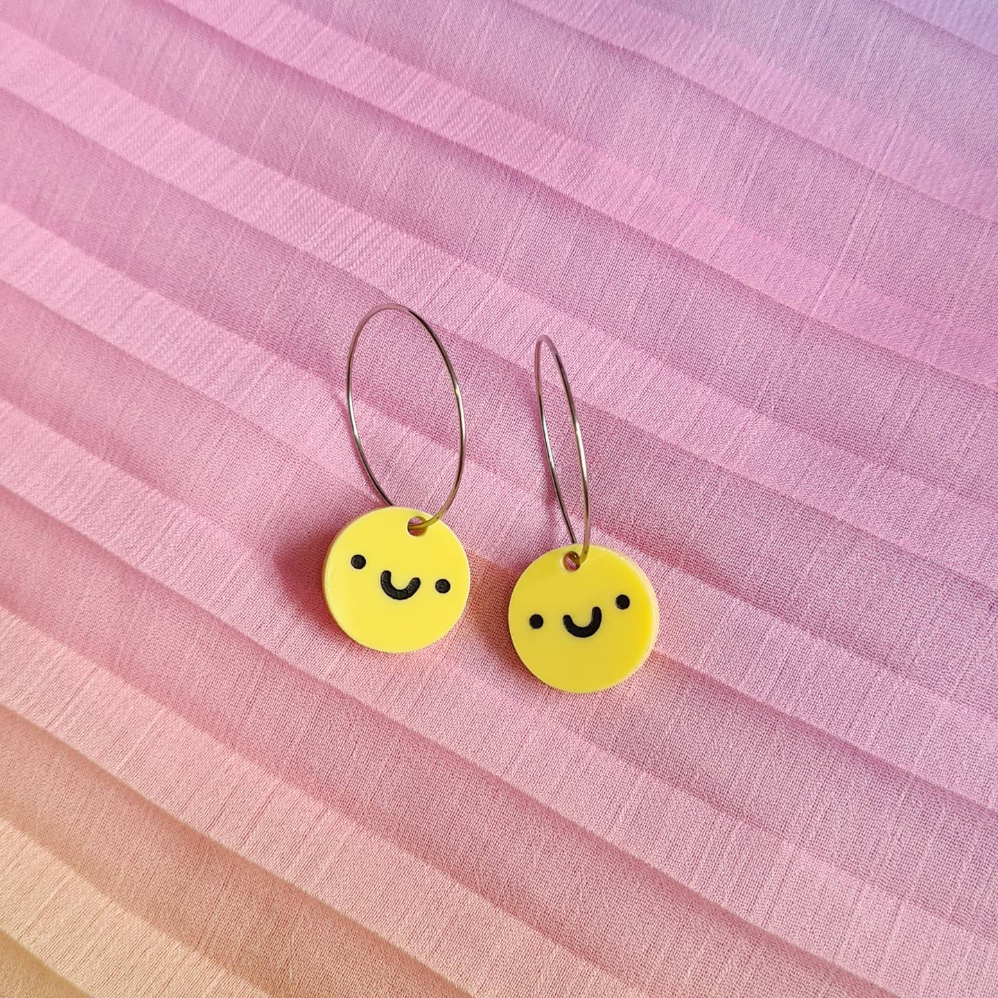 Smiley Face Hoops