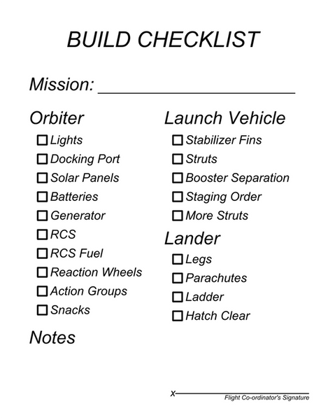 checklist preview