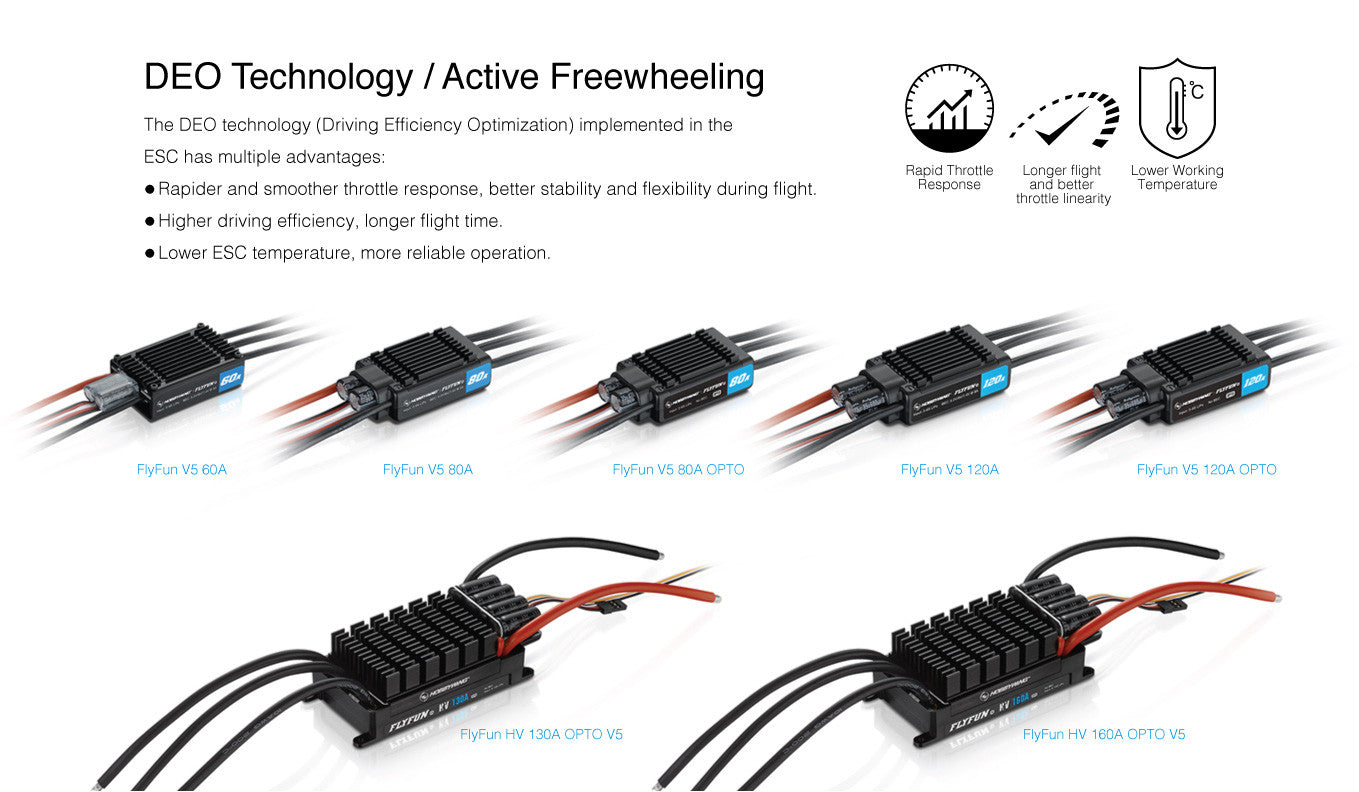 Hobby Wing 30214101 Fly Fun 60A 6S V5 ESC Optimized for Advanced Users
