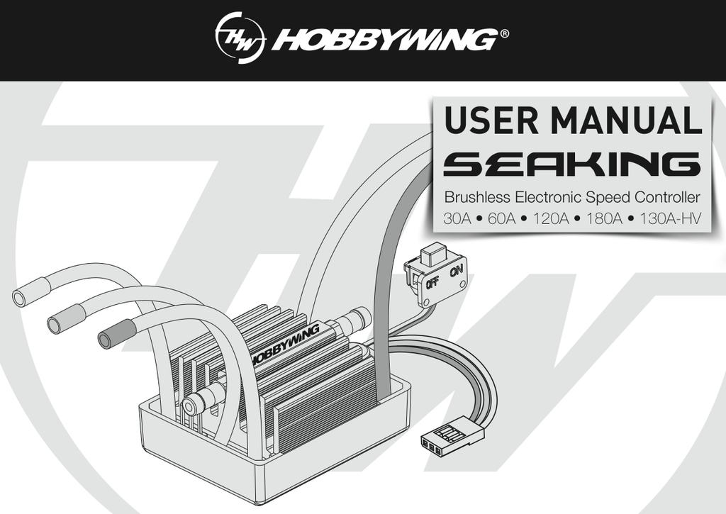 SEAKING V3 User Manual & Trouble shooting – HOBBYWING North