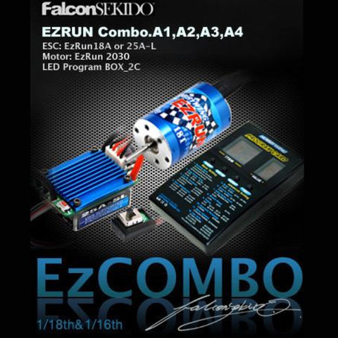 EZRUN Combo for 1/18 Car (A Series) , Combo - Hobbywing, HOBBYWING North America - 2