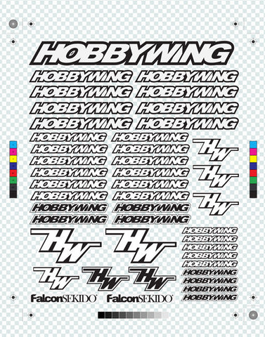 HOBBYWING Decal Sheet Black, Lifestyle - Hobbywing, HOBBYWING North America - 1
