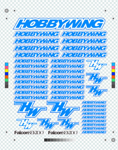 HOBBYWING Decal Sheet Blue, Lifestyle - Hobbywing, HOBBYWING North America - 2