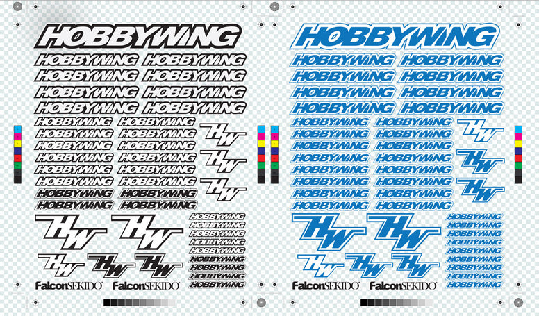 HOBBYWING Decal Sheet Combo A, Lifestyle - Hobbywing, HOBBYWING North America - 4