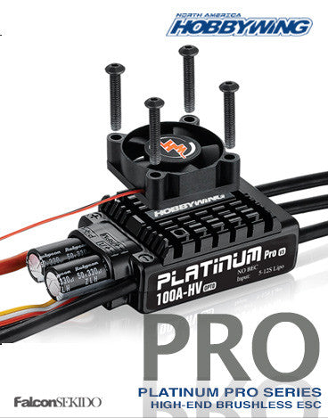 Platinum Pro V3 100A-HV (5S-12S LiPo) , ESC for Aircrafts - Hobbywing, HOBBYWING North America - 1