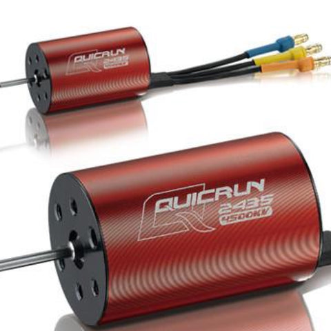 QUICRUN  2435 SL motor 4500kv 2 pole QUICRUN 2435 SL brushless Motor, ESC for Vehicles - Hobbywing, HOBBYWING North America - 1