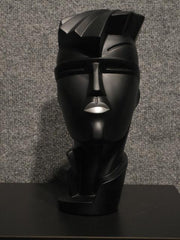 Lindsey B Irmgard Black with Silver Lips Sculpture 1984