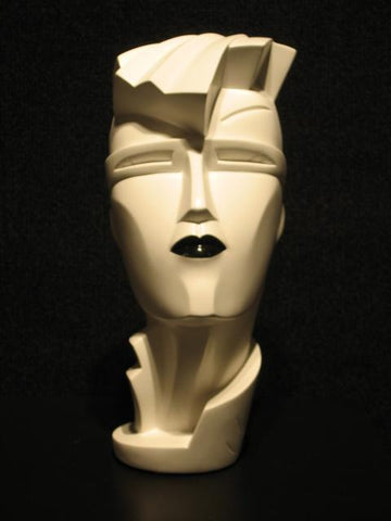 Lindsey B Irmgard White with Black Lips Sculpture 1984
