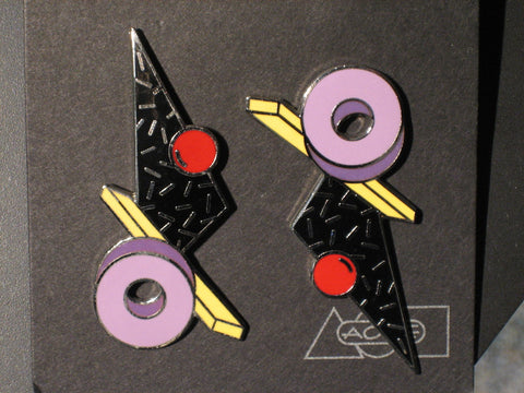 Memphis Adrian Olabuenaga Proton Earrings 1985
