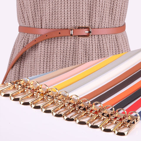 Women  Belts Candy Color