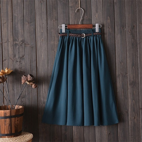 Summer Skirt Women With Belt