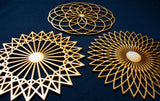 Sacred Geometry Wall Art, 3 Pack