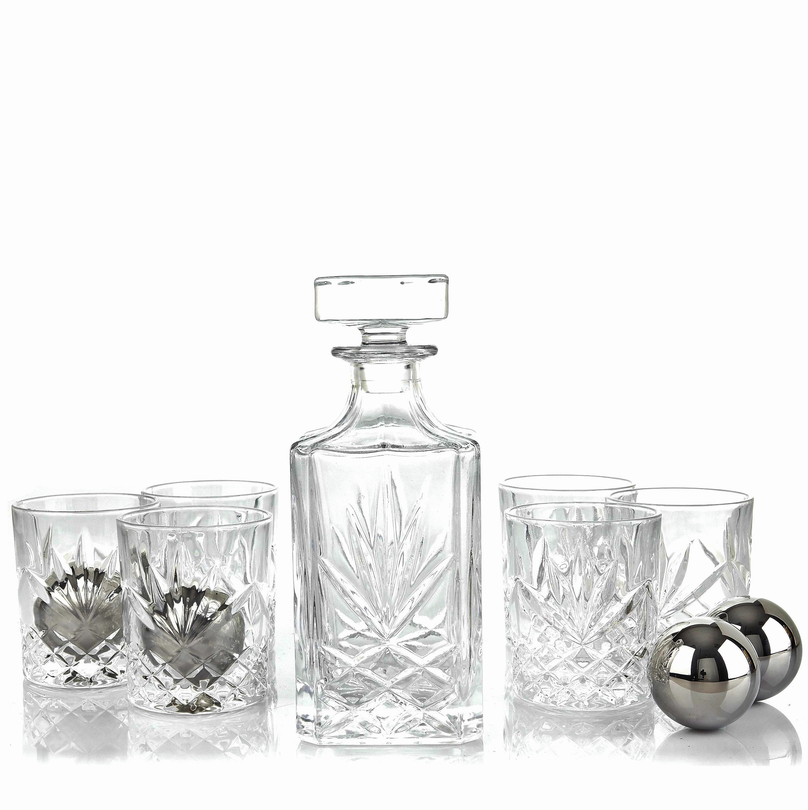 Nou Living Crystal Decanter and Glass Set - Classic