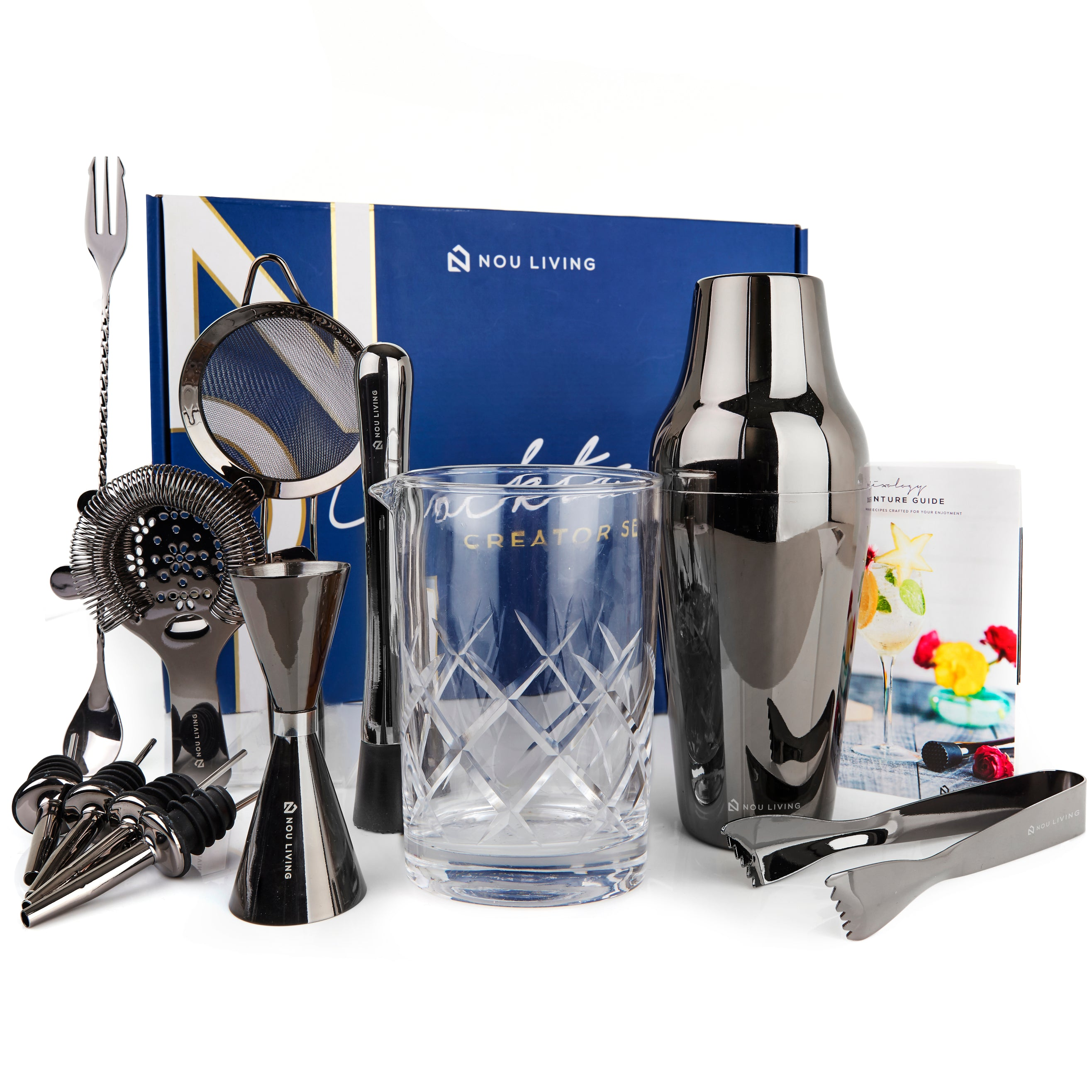 Nou Living Cocktail Creator Set - Gun Metal Black