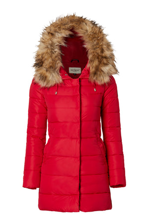 MAINE JACKET RED/NATURE