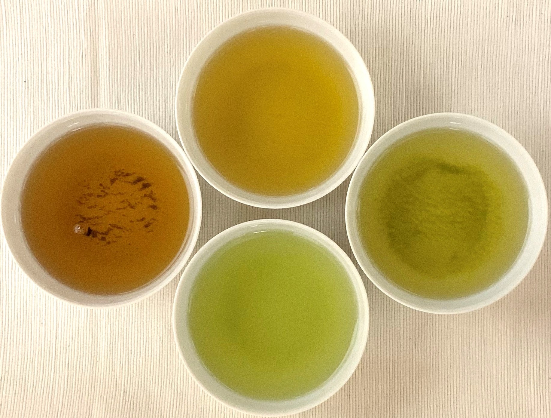 What is the Difference in Color and Aroma of Each Type of Japanese Green Tea