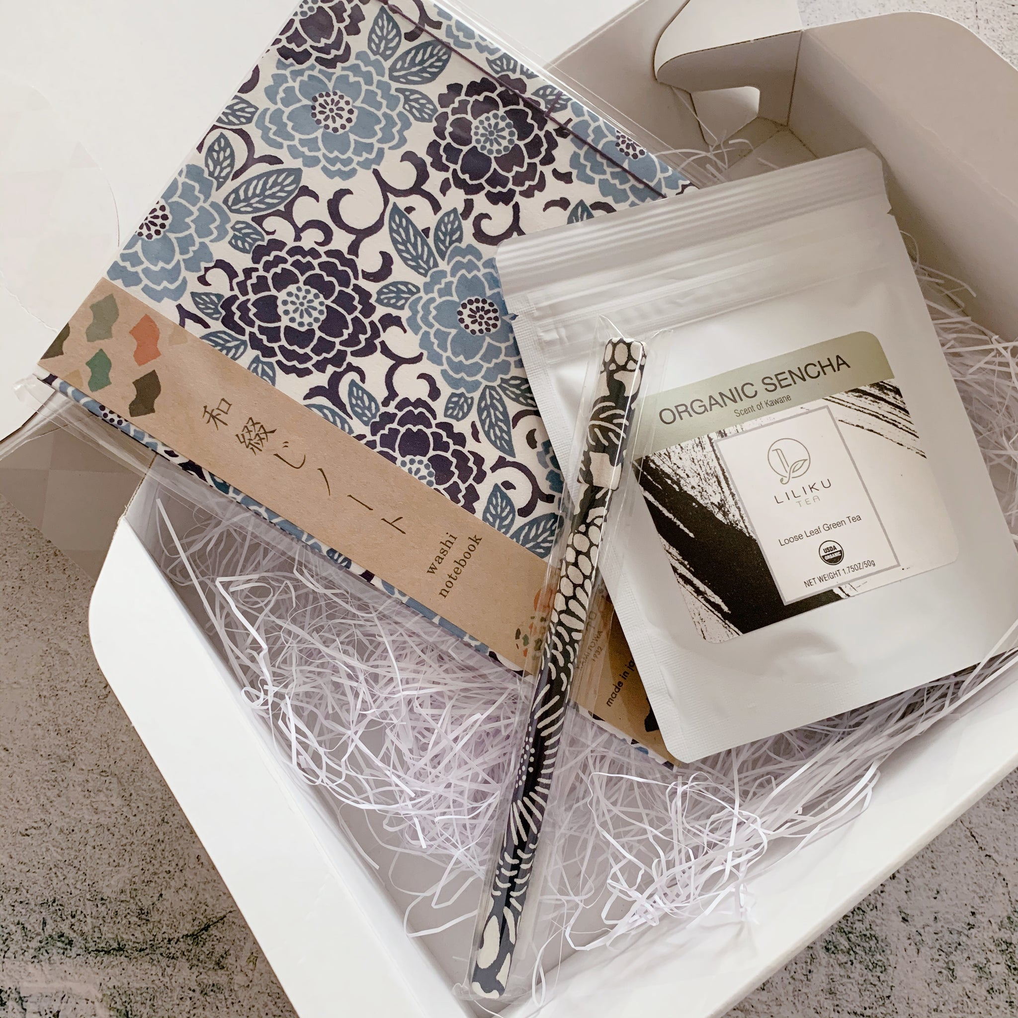 Sencha & Tea Journal Gift Box Set
