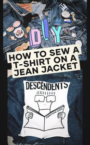 How to Sew a Graphic T-shirt Panel onto a Denim Jacket