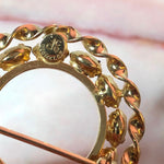 14k Gold Filled Circle Brooch - Everyday in Retrograde