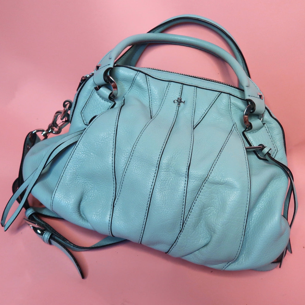 Vintage Leather Oryany Blue Bag - Everyday in Retrograde