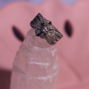 Vintage Sterling Ring with Crystals - Everyday in Retrograde