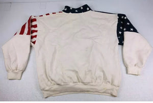 Vintage American Flag Biker Quarter Zip - Everyday in Retrograde