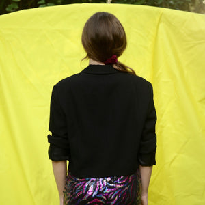 90s Vintage Blazer / Cape with One Top Button