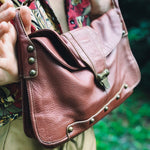 Soft Pebble Leather Satchel by Maxximum - Everyday in Retrograde
