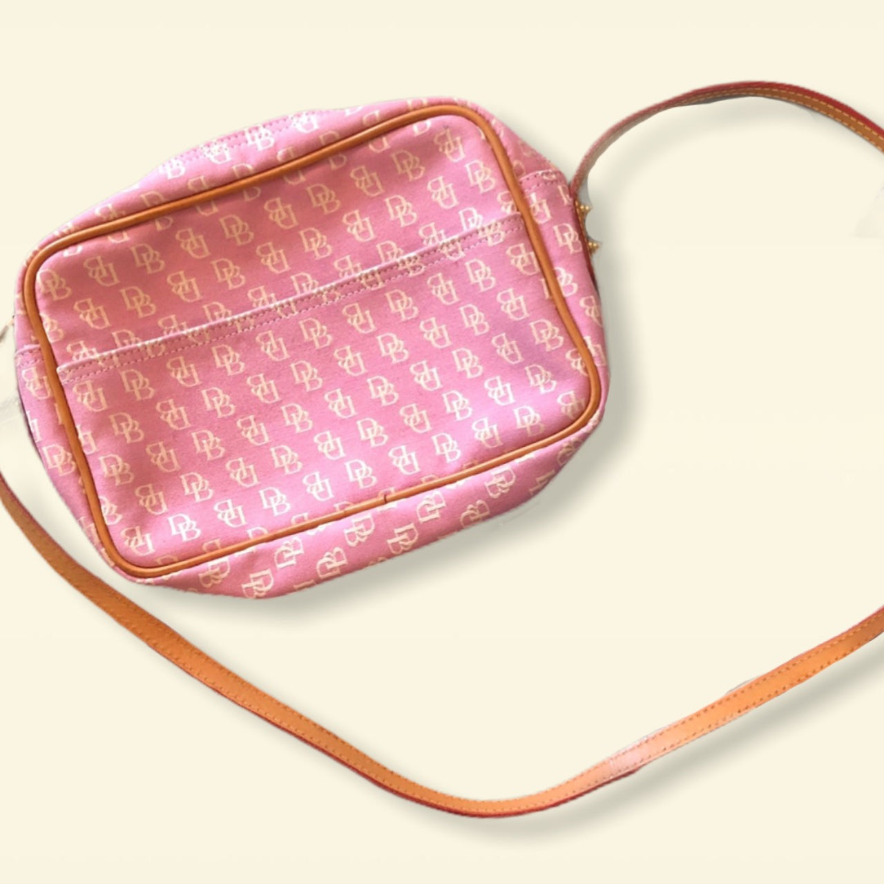 Pink Logo Pattern Dooney & Bourke Shoulder Bag - Everyday in Retrograde