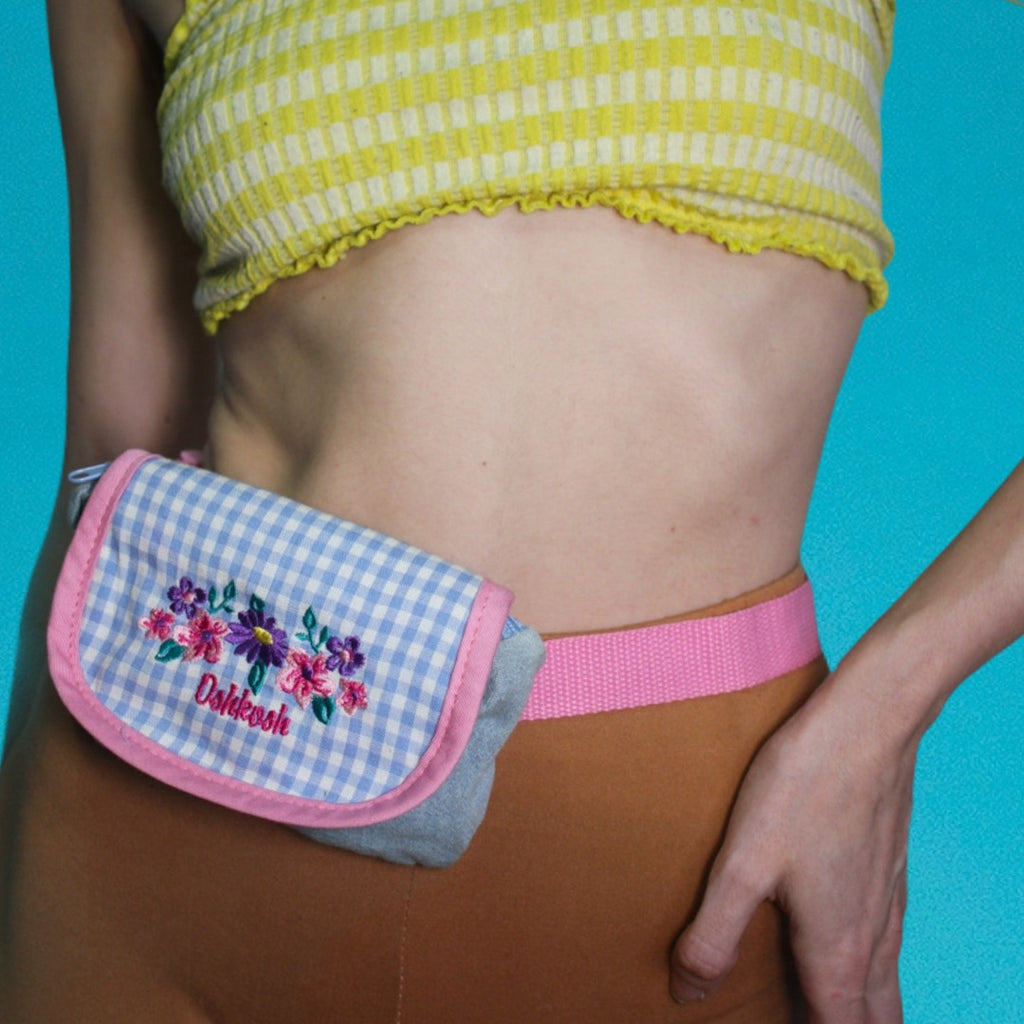 Cute Vintage Oskkosh B'Gosh Mini fanny pack with a little Kawaii flair - Everyday in Retrograde