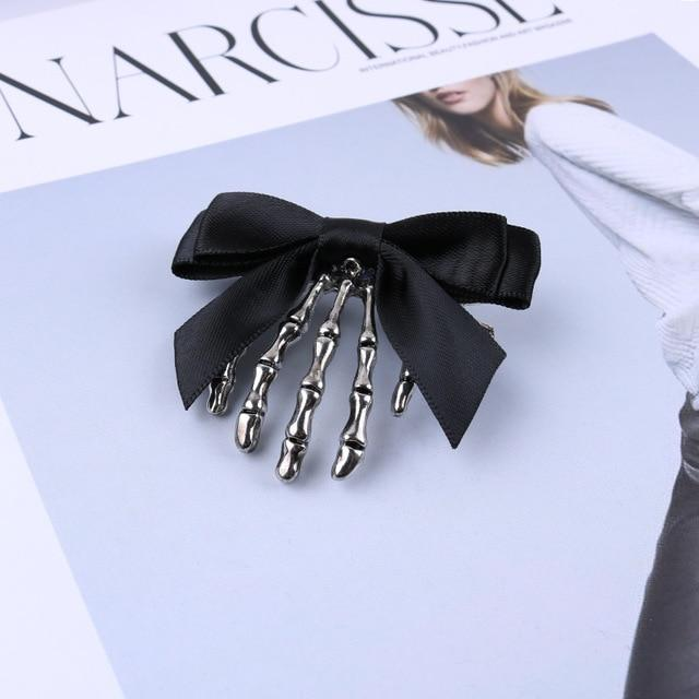 Black Bowtie Bone Hair Clips Hair accessory