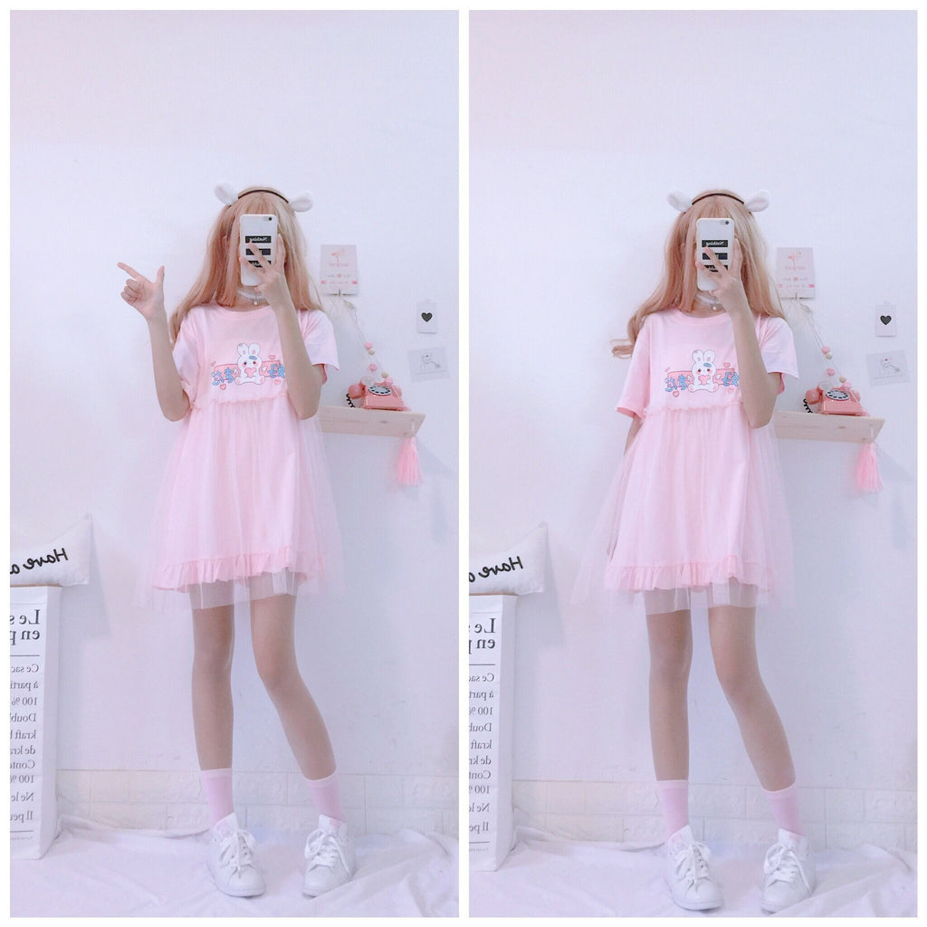 Bunny Love Double Layered Dress Dresses