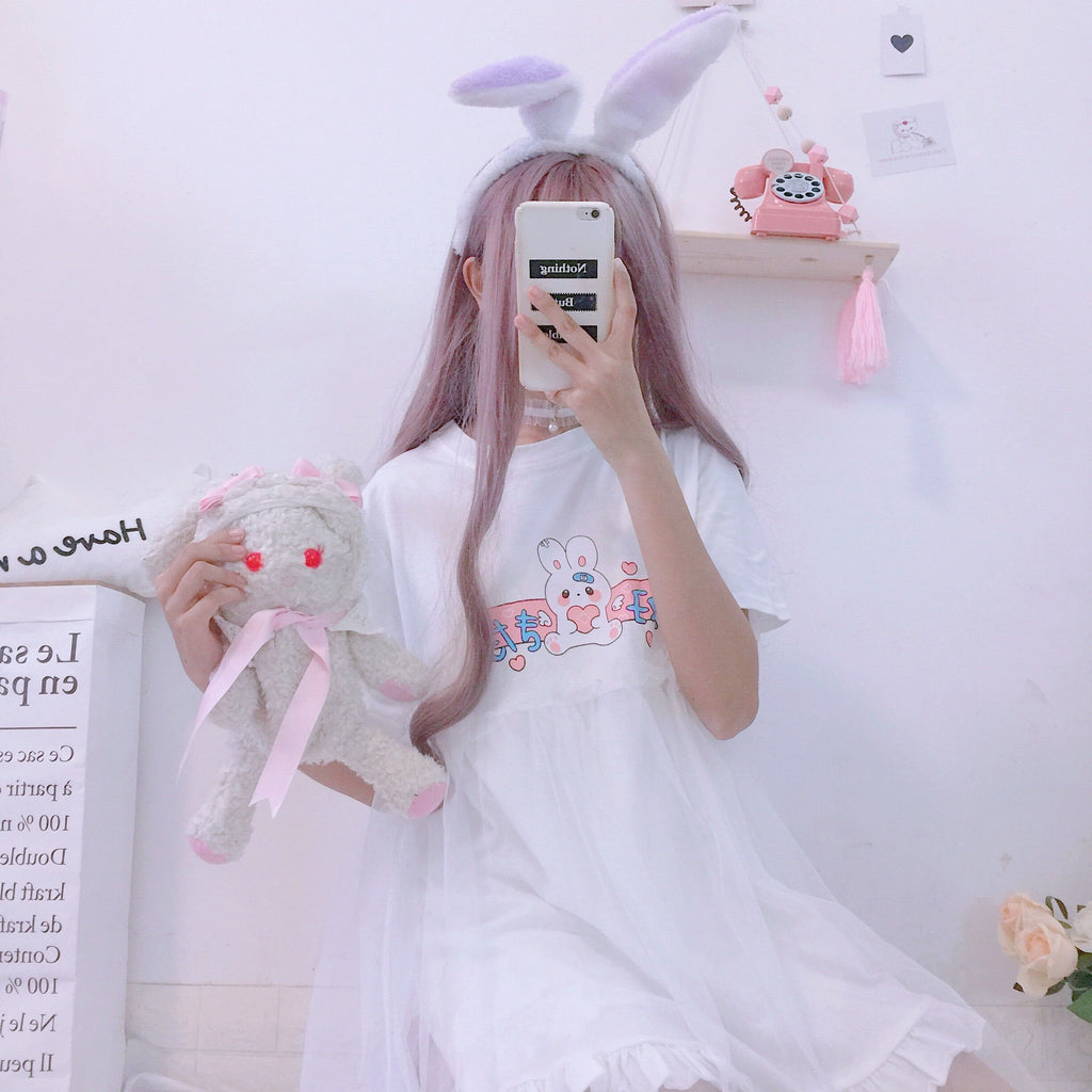 Bunny Love Double Layered Dress Dresses White One Size