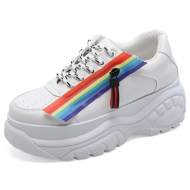 Chunky Pride Sneakers shoes WHITE 6