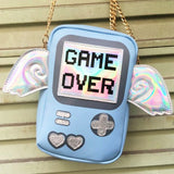 GAME OVER Purse bags Blue (Large)
