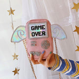 GAME OVER Purse bags Pink (Small)