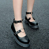 Heart Buckle Flats 5 black