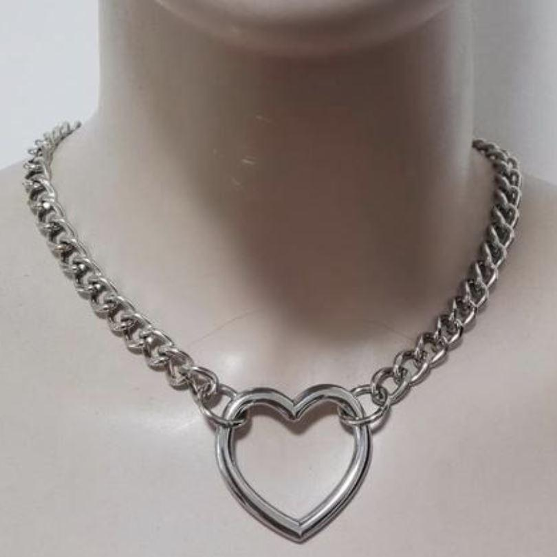 Heart Chain Link Collar accessory Heart S