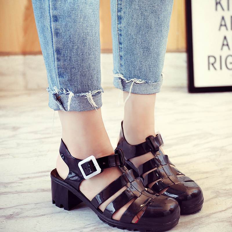 Jelly Sandal Heels shoes