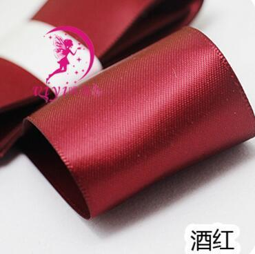 Kawaii Bow Pig Tail Clips Hair accessory Wine Red 1 Pair
