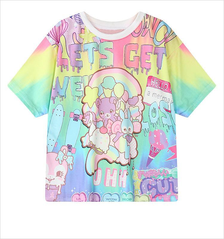 Lets Get Weird T Shirt top Vibrant One Size