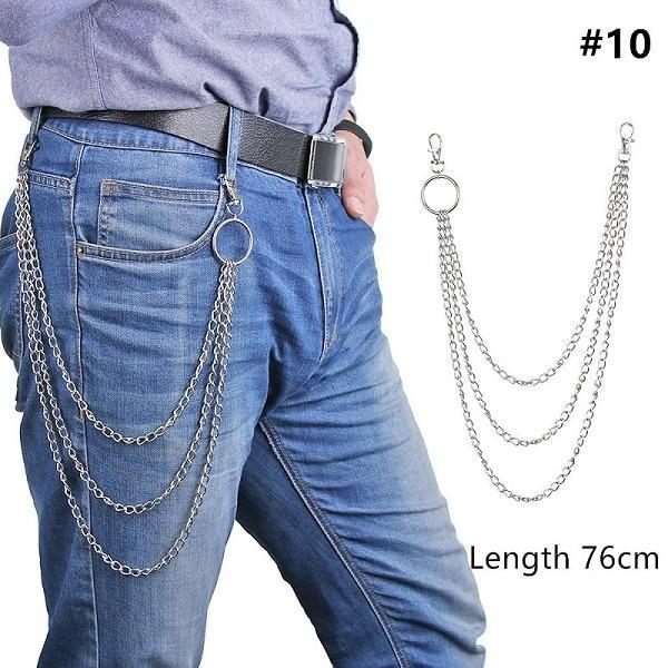 Long Metal Pant Keychain accessories 10