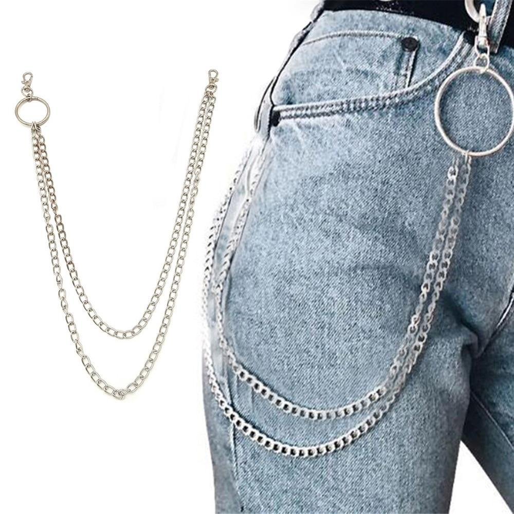 Long Metal Pant Keychain accessories