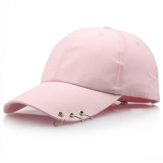 Pierced Dad Cap hat pink