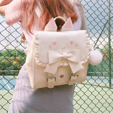 Pleather Kawaii Kitty Backpack backpack