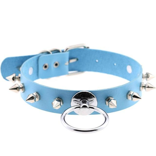 Smol Spiked O-Ring Collar accessories light blue