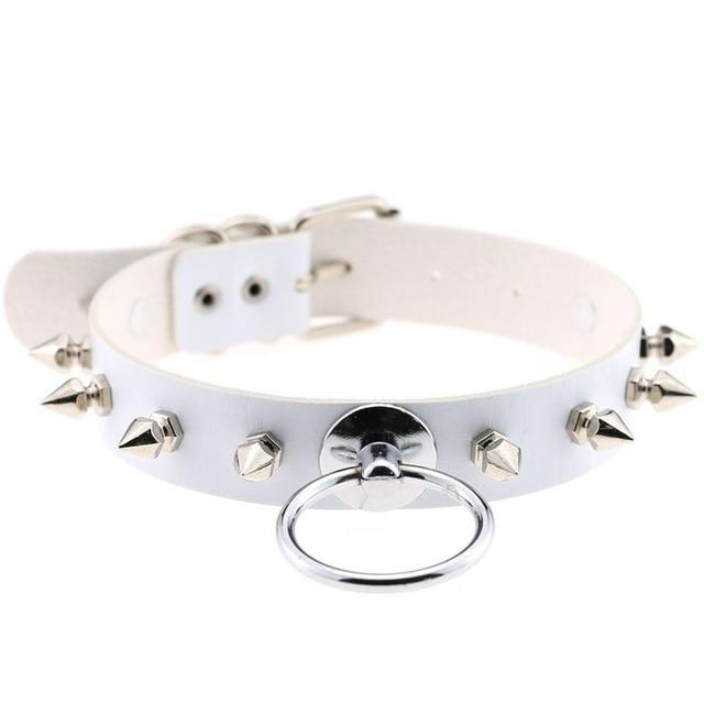 Smol Spiked O-Ring Collar accessories white