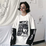 Uzumaki Long Sleeve Fake 2 Piece shirt