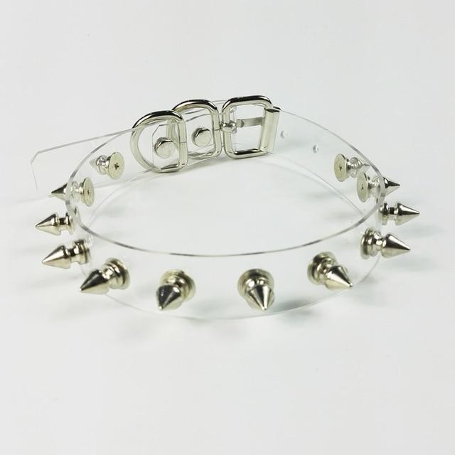 Vinyl Spiked Choker accessories Clear
