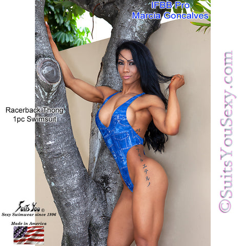 Marcia Goncalves in her Racerback 1-pc swimsuit